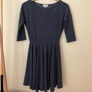 Blue dress from Anthropologie